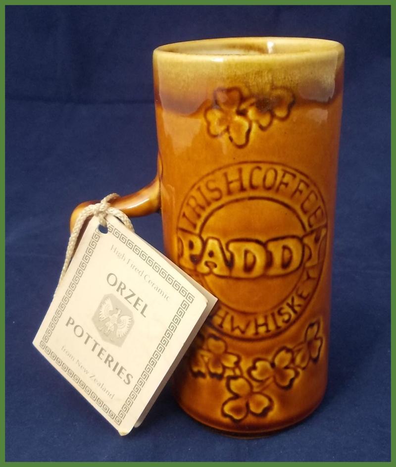 Orzel Irish Coffee mug with Orzel leaflet for gallery. Dscn6516