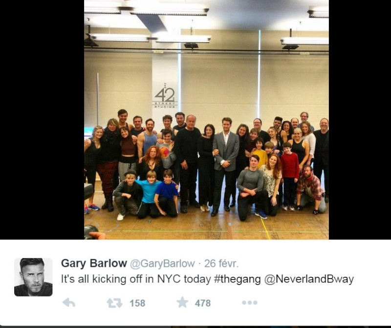 LAURA MITCHELLE GARY BARLOW : The musical Finding Neverland, Hh11