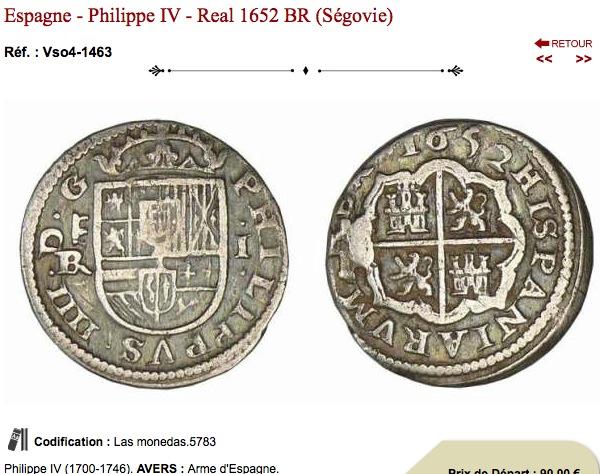 Philippe II, III ou IV D'Espagne. quatre réaux Par_dy10