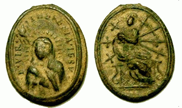 Recopilación medallas Orden Carmelitas Descalzas: Santa Teresa de Jesús 01_cen10