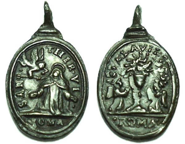 Recopilación medallas Orden Carmelitas Descalzas: Santa Teresa de Jesús 01_cor10