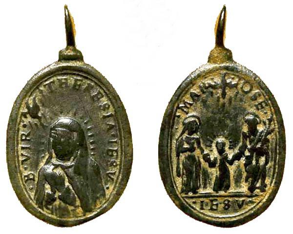 Recopilación medallas Orden Carmelitas Descalzas: Santa Teresa de Jesús 01_ins10