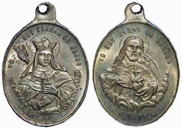 Recopilación medallas Orden Carmelitas Descalzas: Santa Teresa de Jesús 02_cen10