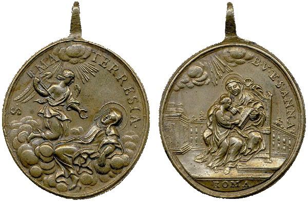 Recopilación medallas Orden Carmelitas Descalzas: Santa Teresa de Jesús 03_ave10