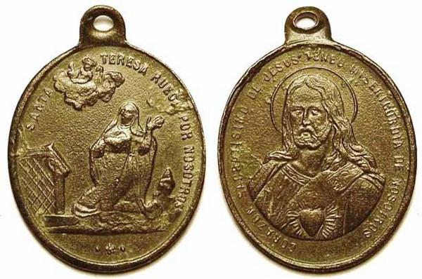 Recopilación medallas Orden Carmelitas Descalzas: Santa Teresa de Jesús 05_cen10