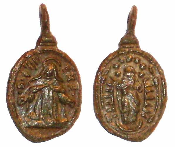 Recopilación medallas Orden Carmelitas Descalzas: Santa Teresa de Jesús 05_tin10