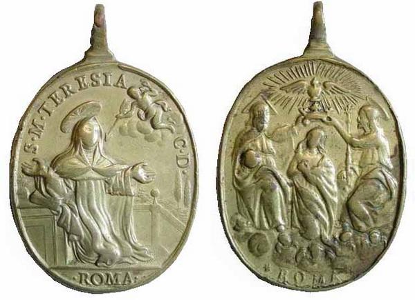 Recopilación medallas Orden Carmelitas Descalzas: Santa Teresa de Jesús 11_taa13