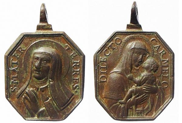 Recopilación medallas Orden Carmelitas Descalzas: Santa Teresa de Jesús 13_ave10