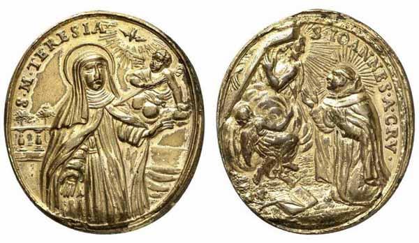 Recopilación medallas Orden Carmelitas Descalzas: Santa Teresa de Jesús 15_num11