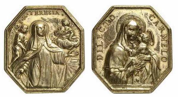 Recopilación medallas Orden Carmelitas Descalzas: Santa Teresa de Jesús 18_44x11