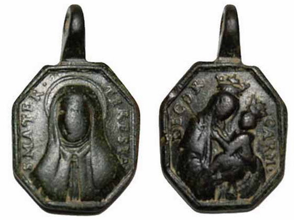 Recopilación medallas Orden Carmelitas Descalzas: Santa Teresa de Jesús 28_tra10