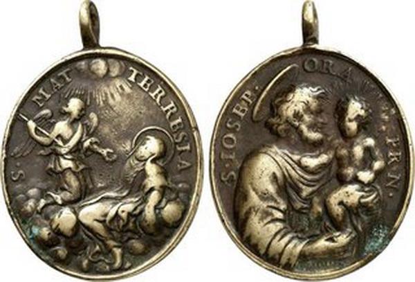 Recopilación medallas Orden Carmelitas Descalzas: Santa Teresa de Jesús 39x3410