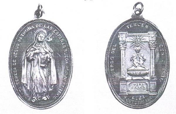Recopilación medallas Orden Carmelitas Descalzas: Santa Teresa de Jesús 3er_ce11
