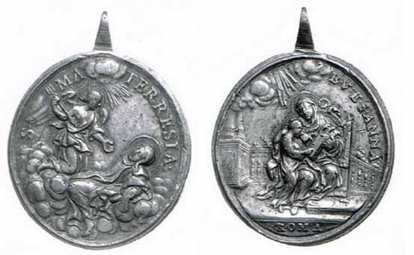 Recopilación medallas Orden Carmelitas Descalzas: Santa Teresa de Jesús 4_bnf_10