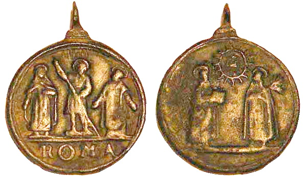 Recopilación medallas Orden Carmelitas Descalzas: Santa Teresa de Jesús 5_cors10