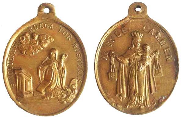 Recopilación medallas Orden Carmelitas Descalzas: Santa Teresa de Jesús Archiv11