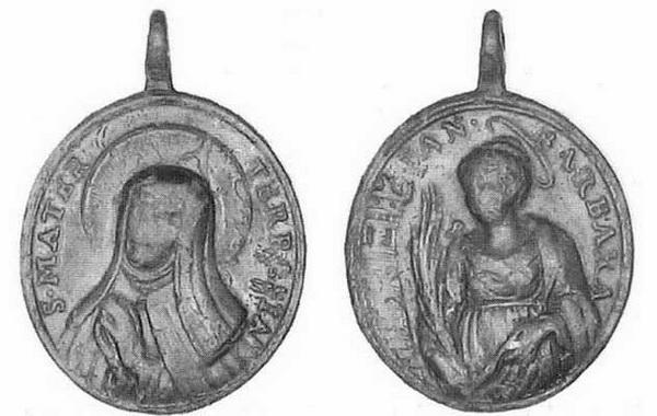 Recopilación medallas Orden Carmelitas Descalzas: Santa Teresa de Jesús Candus10