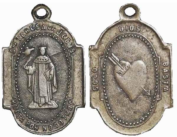 Recopilación medallas Orden Carmelitas Descalzas: Santa Teresa de Jesús Centau10