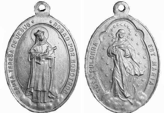 Recopilación medallas Orden Carmelitas Descalzas: Santa Teresa de Jesús Centau11