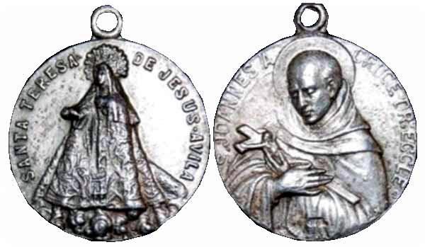 Recopilación medallas Orden Carmelitas Descalzas: Santa Teresa de Jesús Centau12