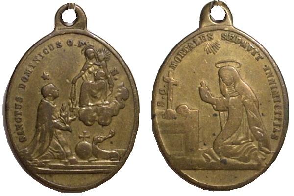 Recopilación medallas de Santo Domingo de Guzmán. Notas iconográficas. Forner14