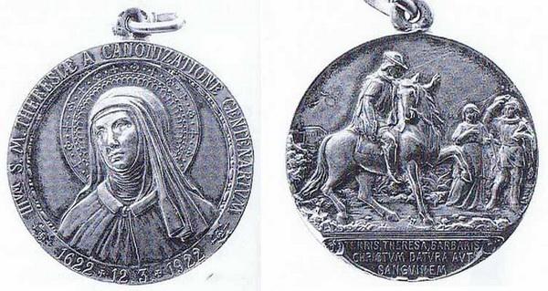 Recopilación medallas Orden Carmelitas Descalzas: Santa Teresa de Jesús Garuti10