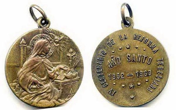 Recopilación medallas Orden Carmelitas Descalzas: Santa Teresa de Jesús Manuol10