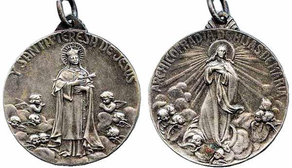 Recopilación medallas Orden Carmelitas Descalzas: Santa Teresa de Jesús Manuol11