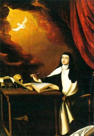Recopilación medallas Orden Carmelitas Descalzas: Santa Teresa de Jesús Zurbar11