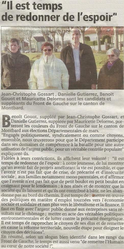 Élections départementales 2015 Montbard : Benoît Gouot et Danielle Gutierrez sont candidats + Profession de foi + Tract + Venarey-lès-Laumes : Un dialogue avec les citoyens (Bien Public) Il_est10