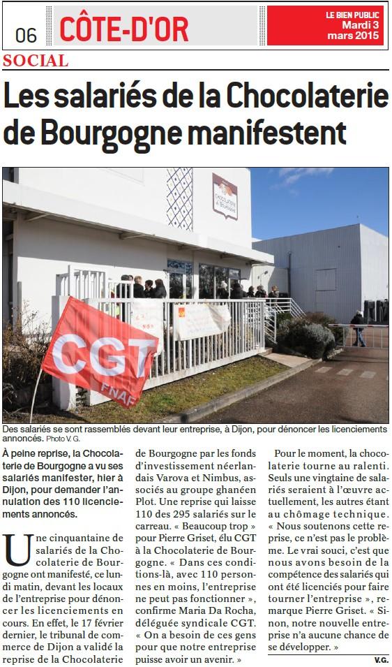 Les salariés de la Chocolaterie de Bourgogne manifestent (Bien Public) Les_sa10
