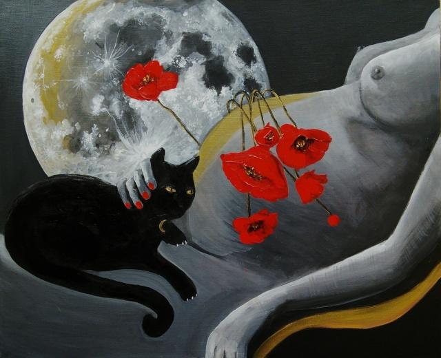 La femme et la Lune ...  - Page 3 Chat_l10