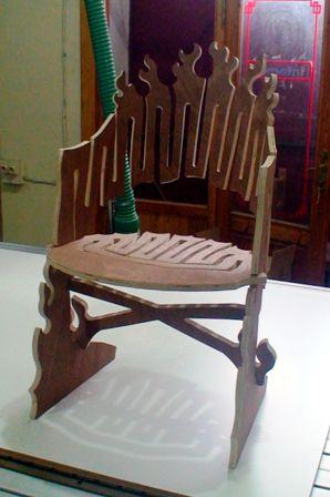 """chaise """"design"""" en CP Flame_12"""