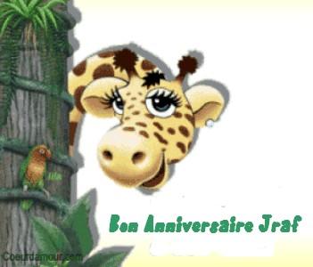 Happy Birthday Giraff Jraf10