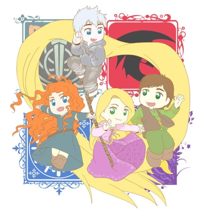 (Fan art) Merida, Rapunzel, Jack et Hiccup - The Big Four - Page 2 Tumblr10