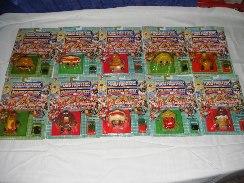 FOOD FIGHTERS 10PZ Serie Completa MATTEL Vintage NEW Dsc00711