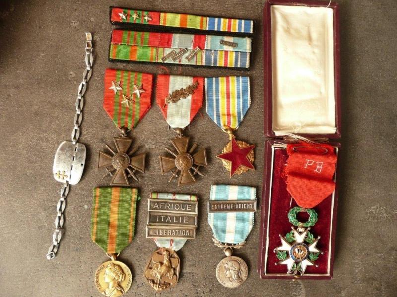 lieutenant paul blanc brevet 1132 mort au combat le 07/04/1948 a caobang Medail10