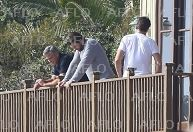 George Clooney and Rande Gerber in Malibu, CA - Gg410