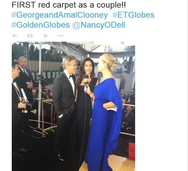 George Clooney at the Golden Globes January 2015 - Page 6 Hail511
