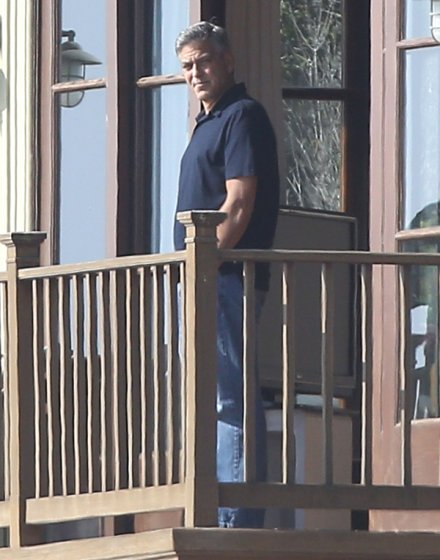 George Clooney and Rande Gerber in Malibu, CA - Ja10