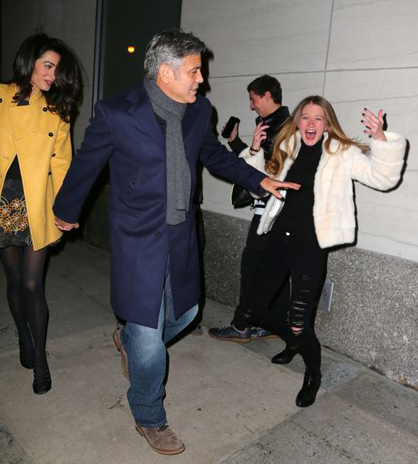 George Clooney and Amal out for dinner on the Upper East Side at Kappo Masa Ll10
