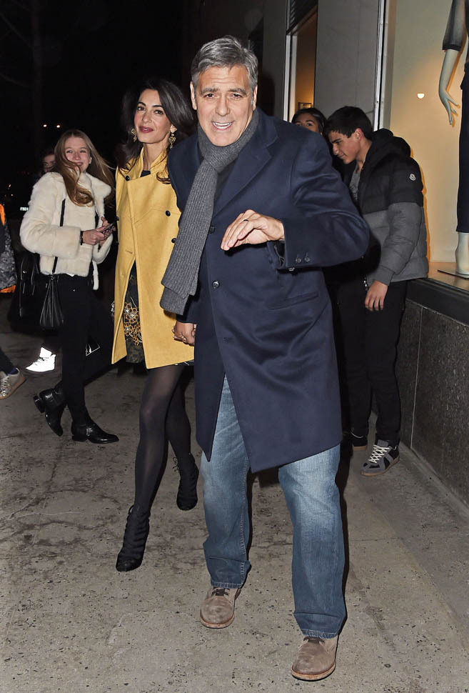 George Clooney and Amal out for dinner on the Upper East Side at Kappo Masa - Page 2 Loo310