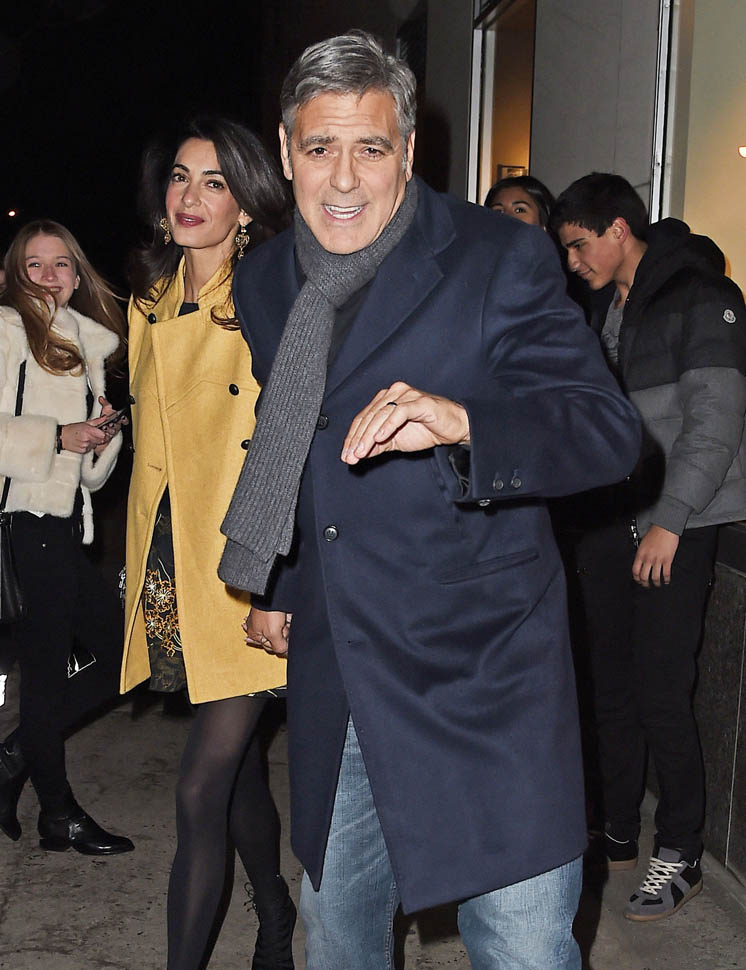 George Clooney and Amal out for dinner on the Upper East Side at Kappo Masa - Page 2 Loo410