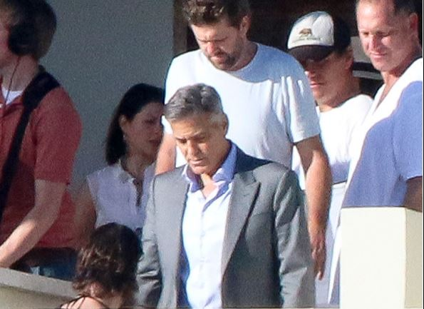 George Clooney filming a commercial on February 11, 2015 in Cabo San Lucas, Mexico.  New310