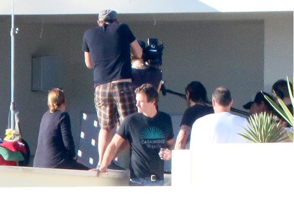 George Clooney filming a commercial on February 11, 2015 in Cabo San Lucas, Mexico.  New410