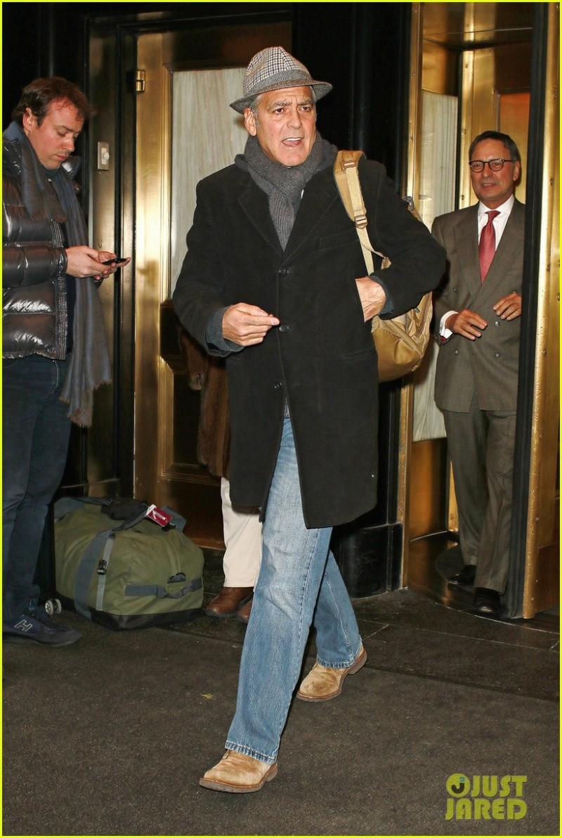 George Clooney exiting the Carlyle on Wednesday (March 4) in New York City. Ny310