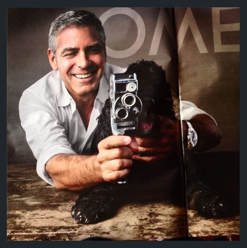 George Clooney and Einstein with Omega Omega10
