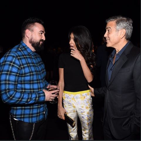 George Clooney at the Oscar night before party 2015 Pents10