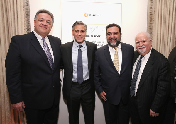 100 LIVES Event: George Clooney Joins Humanitarian Leaders to Launch Global Prize in NYC Sau1110