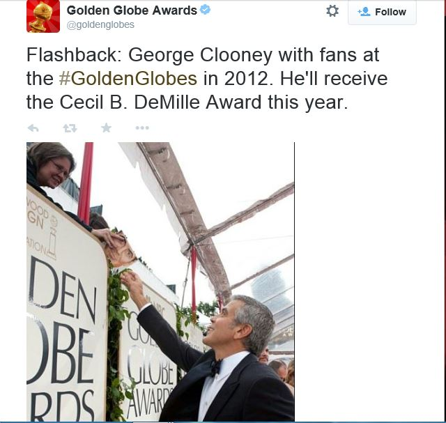Golden Globe Awards' reception celebrating George Clooney as Cecil B. DeMille Award recipient - Page 2 Sev12